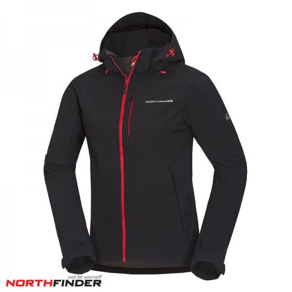 NORTHFINDER Мъжко Ски Яке  MARQUIS (BU-3485OR) black/red